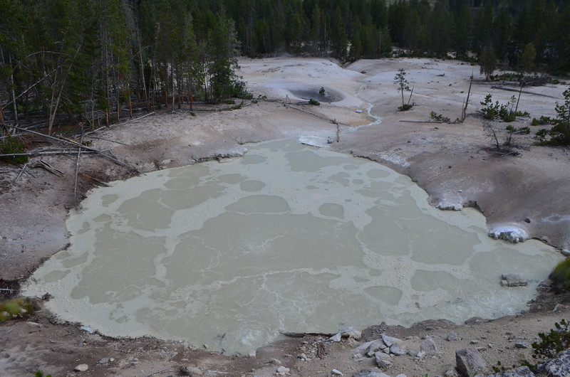 Very sulfur smelling volcanic mud. Phew!