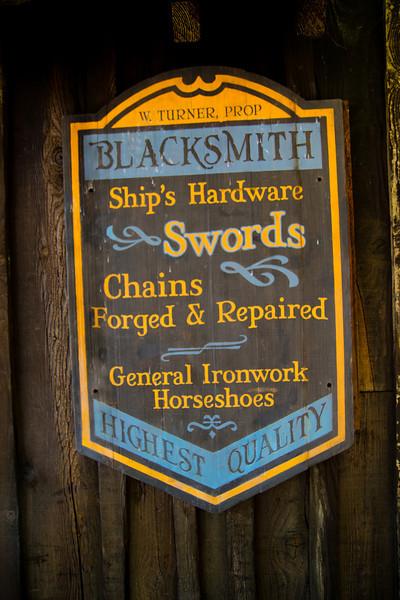 Water Wheel House Sign on Tom Sawyer's Island