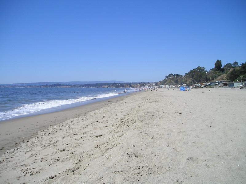 Looking north along Rio Del Mar beach.