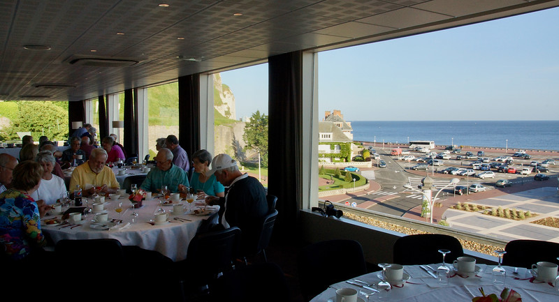 Dinner at our hotel in Dieppe, on the Normandy coast