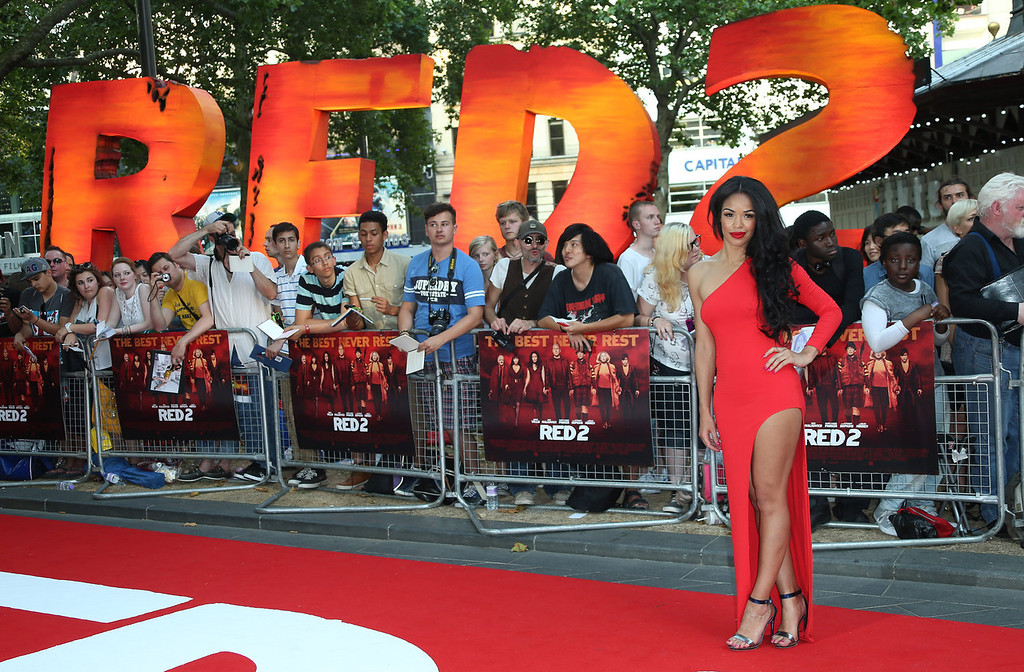 . Sarah-Jane Crawford arrives on the red carpet for the European Premiere of Red 2, at a central London cinema, Monday, July 22, 2013. (Photo by Joel Ryan/Invision/AP)