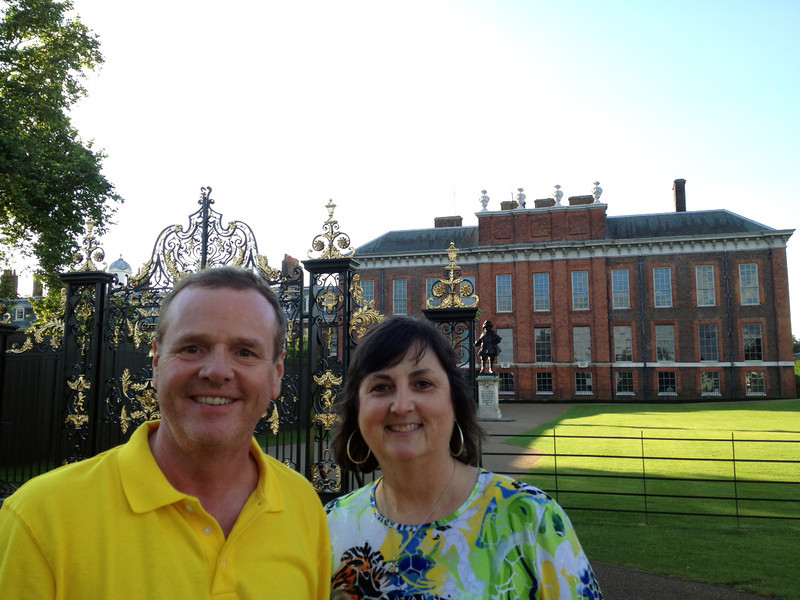 The ticket people gave us a break and fed us at Kennsington Palace,  home to Princess Diana