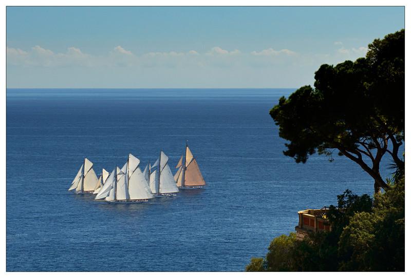View for picnic site in Monaco