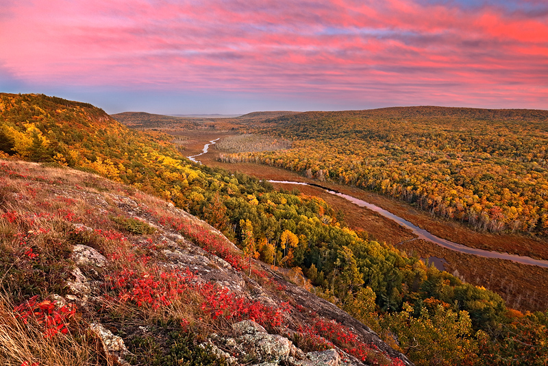 Autumn Splendor - Big Carp River Valley (Porcupine Mountains State Park - Upper Michigan)