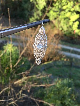 Filigree Vintage Diamond Pendant