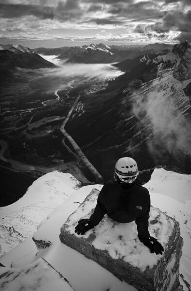 """Last Climb"" XVIII, East end of Mount Rundle, Alberta, Canada."