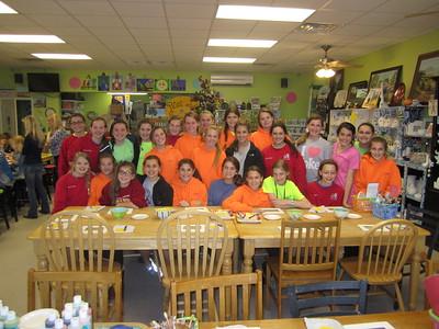 2013-11-16 Ren Fest, Flag Football, Girl Scouts
