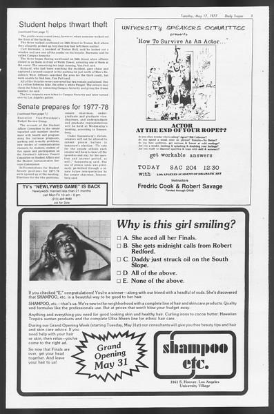 Daily Trojan, Vol. 71, No. 61, May 17, 1977