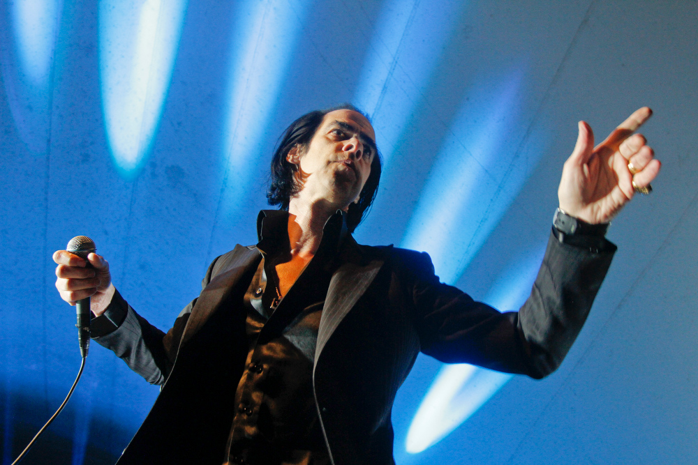 . Nick Cave and the Bad Seeds perform during the SXSW Music Festival, on Wednesday, March 13, 2013 in Austin, Texas. (Photo by Jack Plunkett/Invision/AP Images)
