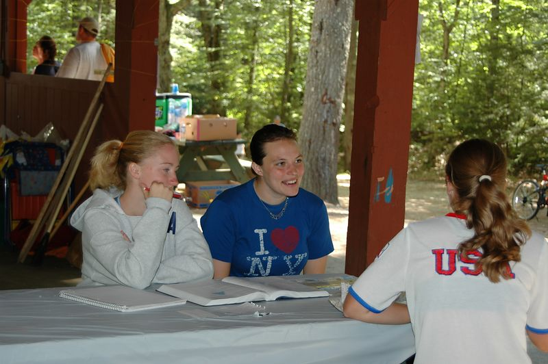 Is that school work, at a camping weekend