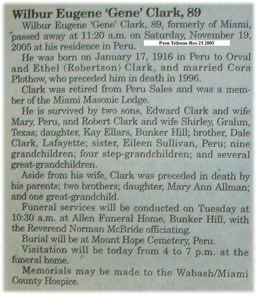 Obituary - Wilber Eugene 'Gene' Clark 17Jan1916-19Nov2005.jpg