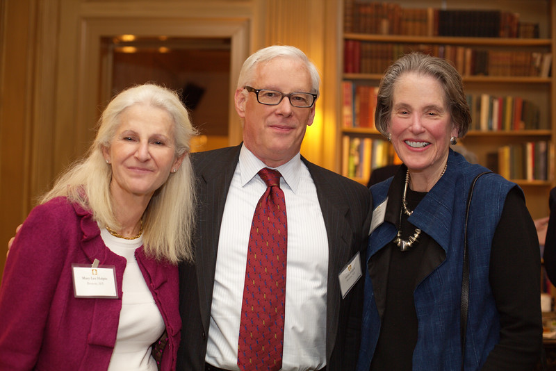 NEHGS Councilor Gerry Halpin and Mary Lee Halpin with Councilor Libby Parker