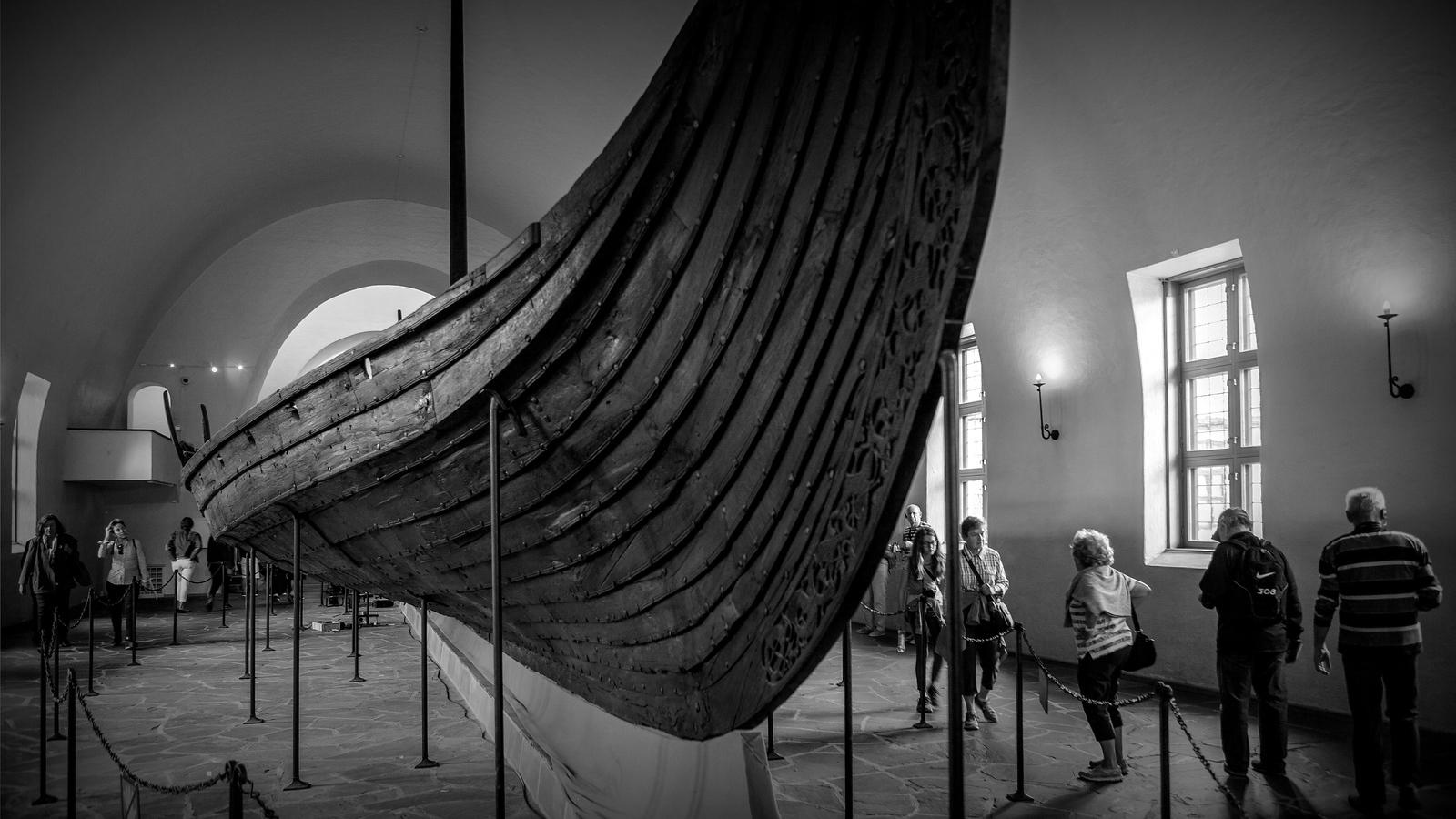 挪威奥斯陆海盗船博物馆,真正超大海盗船