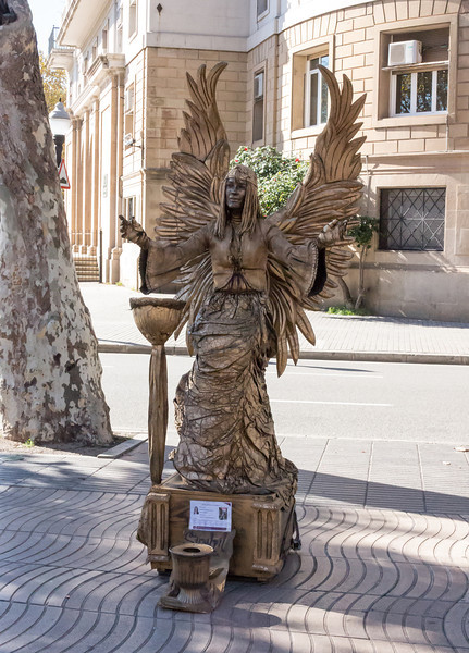 Barcelona, Angel on La Rambla