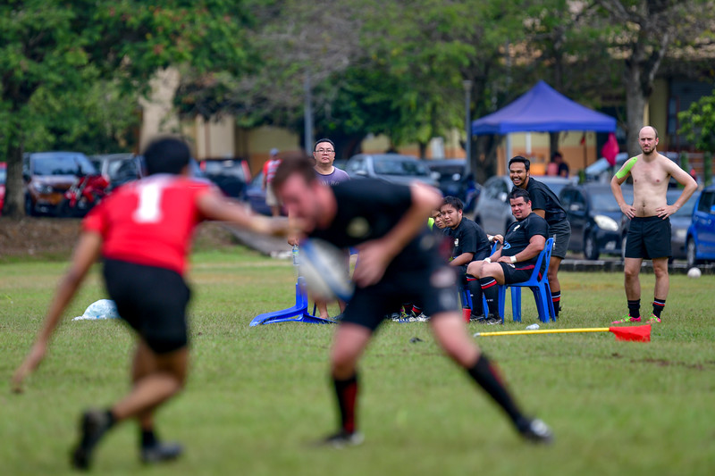 KL Saracens in action against Sajoha Vikings during a Liga KRS match 7th July 2019. Photo by Tom Kirkwood/SportDXB