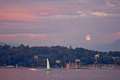 Moonrise at Lake