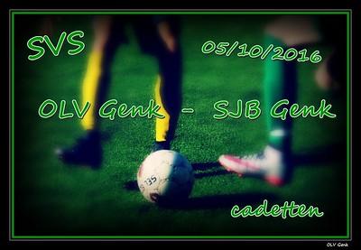 SVS: OLV Genk - SJB Genk (cadetten) 05/10/2016