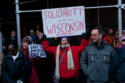 Solidarity With Wisconsin Workers - NY City Hall February 26, 2011