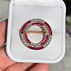 2.90ctw French Ruby and Diamond Brooch, by La Cloche Fres of Paris 27