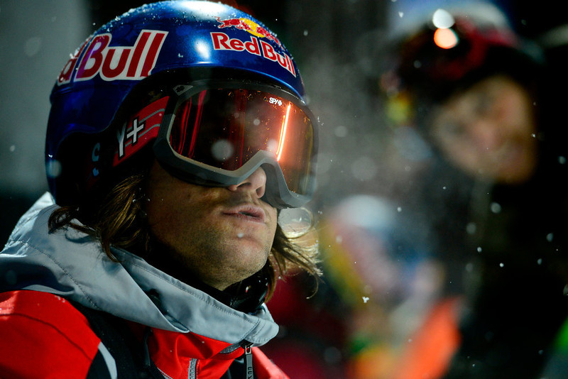 . ASPEN, CO. - JANUARY 24: Louie Vito prepares for a run during the men\'s Snowboard Superpipe elimination. Men\'s Snowboard Slopestyle elimination X Games Aspen Buttermilk Mountain Aspen January 24, 2013 (Photo By AAron Ontiveroz / The Denver Post)