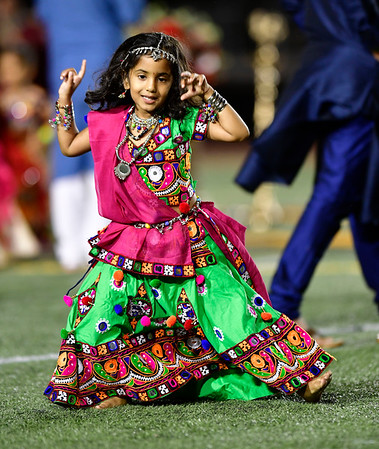 9/14/2019 Mike Orazzi | Staff Shree Badgujar during the Indian festival Navaratri held at Veterans Memorial Stadium in New Britain on Saturday night.