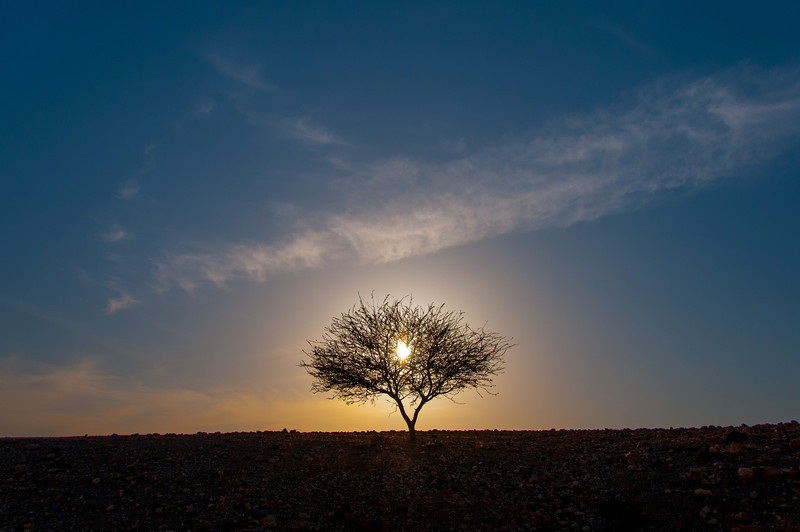 Sunset in Feynan, Arabah, Jordan