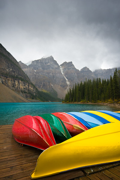 The Canoes of Moraine Lake
