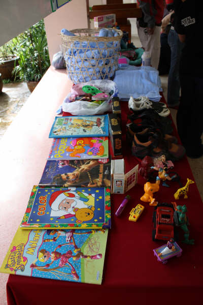 Toys and choes donated by our guests, the Sicre Family  - thank you!