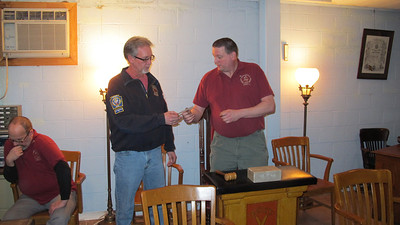 Odd Fellows Donates to Fire Department, Tamaqua (3-26-2014)