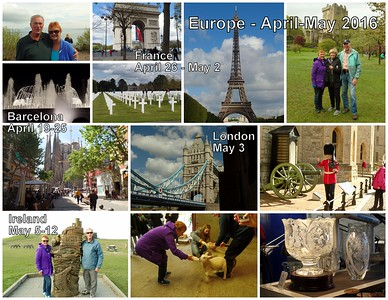 Europe trip - Collages