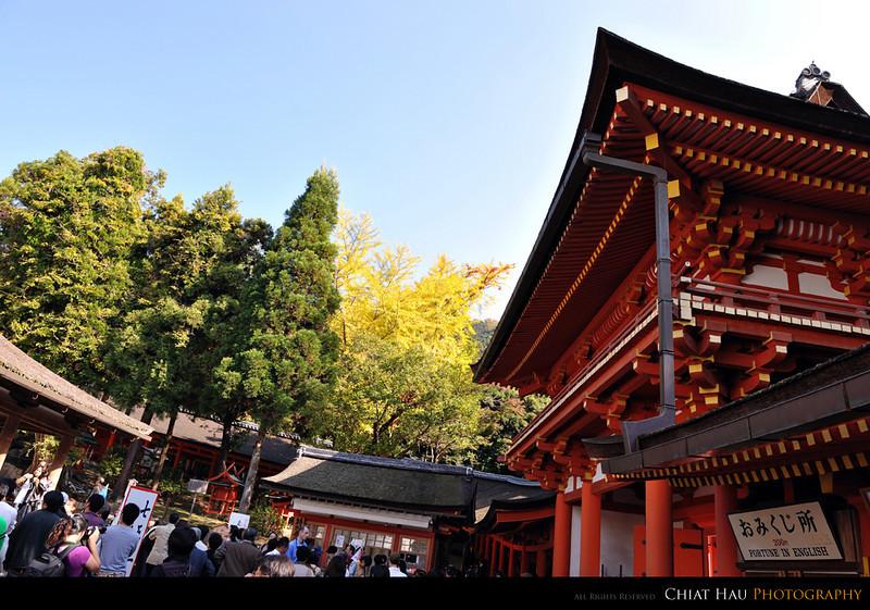 a view in the Kasuga Taisha Shrine