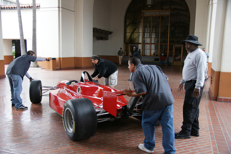 Unloading the Red Sportscars