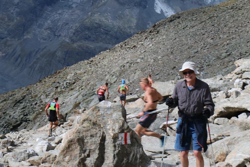 Athletes training run on Munt Pers