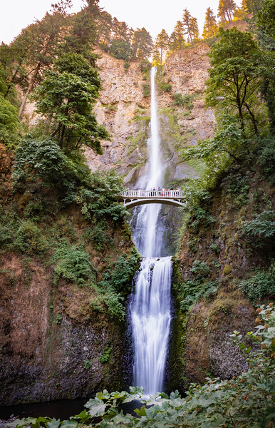 The powerful and impressive Mulnomah Falls in Oregon