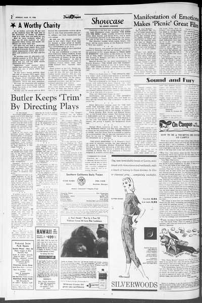 Daily Trojan, Vol. 47, No. 98, March 19, 1956