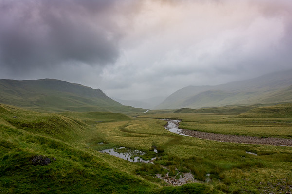 Scottish Landscape on a Rainy Day
