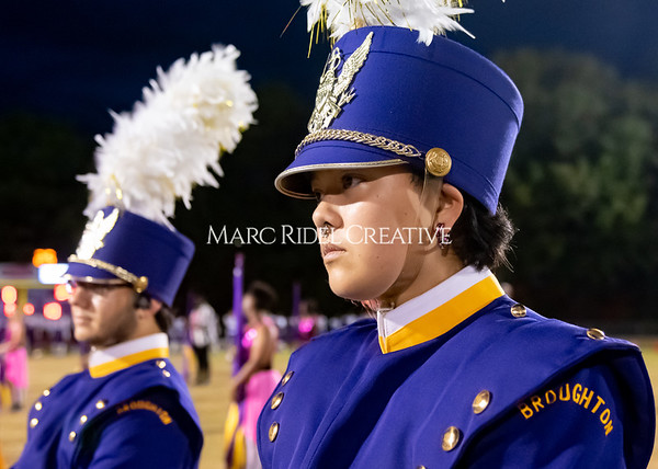 Broughton varsity football vs Cardinal Gibbons. Band and Dance Team Senior Night. October 25, 2019. MRC_3665