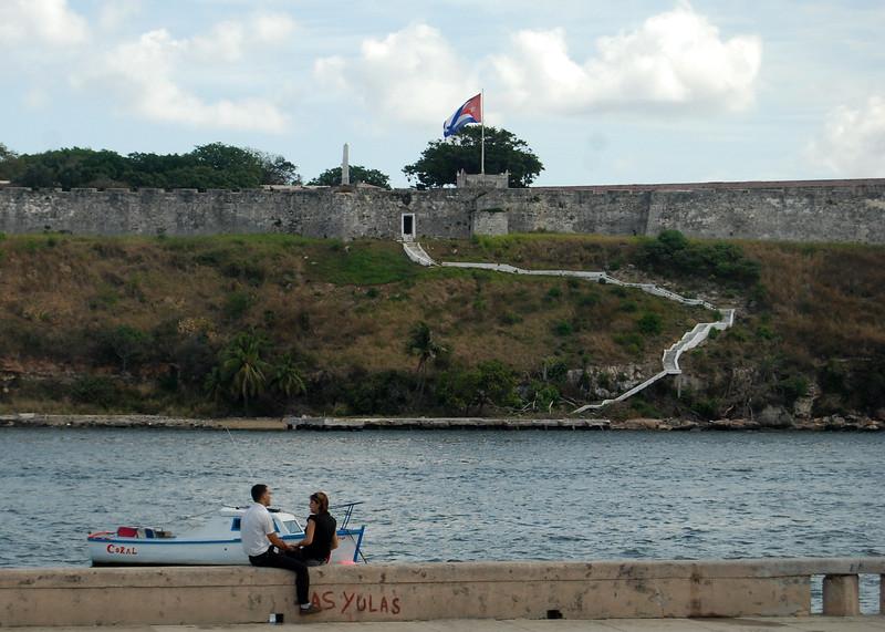 Havana Harbor and fort - Lou Tucciarone