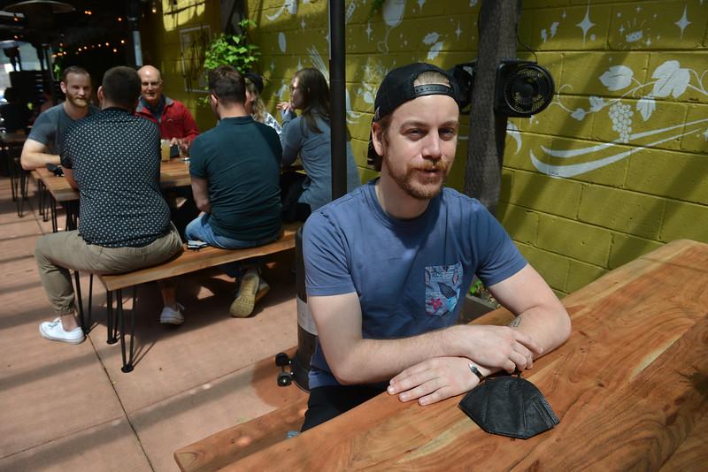 Westside Social and owner Brandon Strick, May 2021