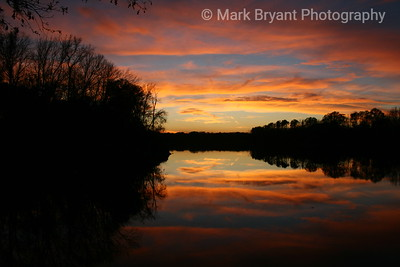Sunset on the Tombigbee River