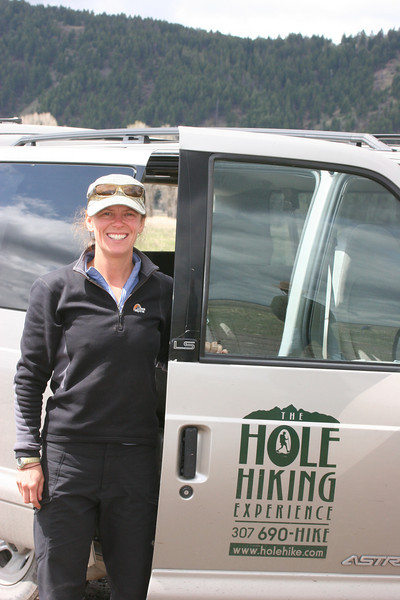 Jill with Hole Hiking - she lives in a yurt in Yurt Village