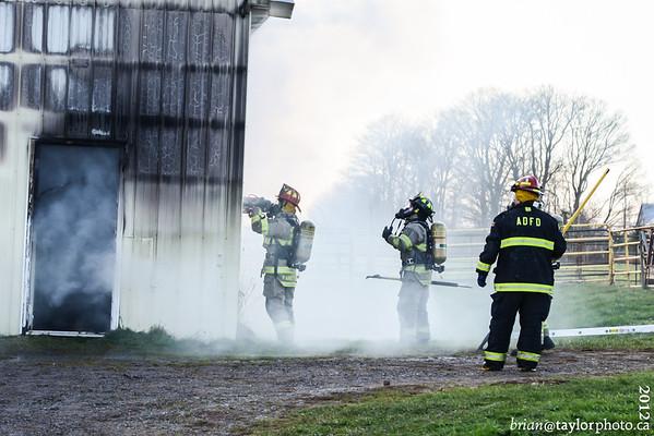 Barn Fire Brooklyn St.  Aylesford, Nov. 21, 2012