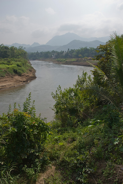 Shot of the bend at Mekong River in Luang Prang, Laos