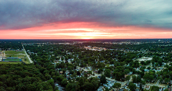 North Royal Oak Aerial Sunset 2020-06-20