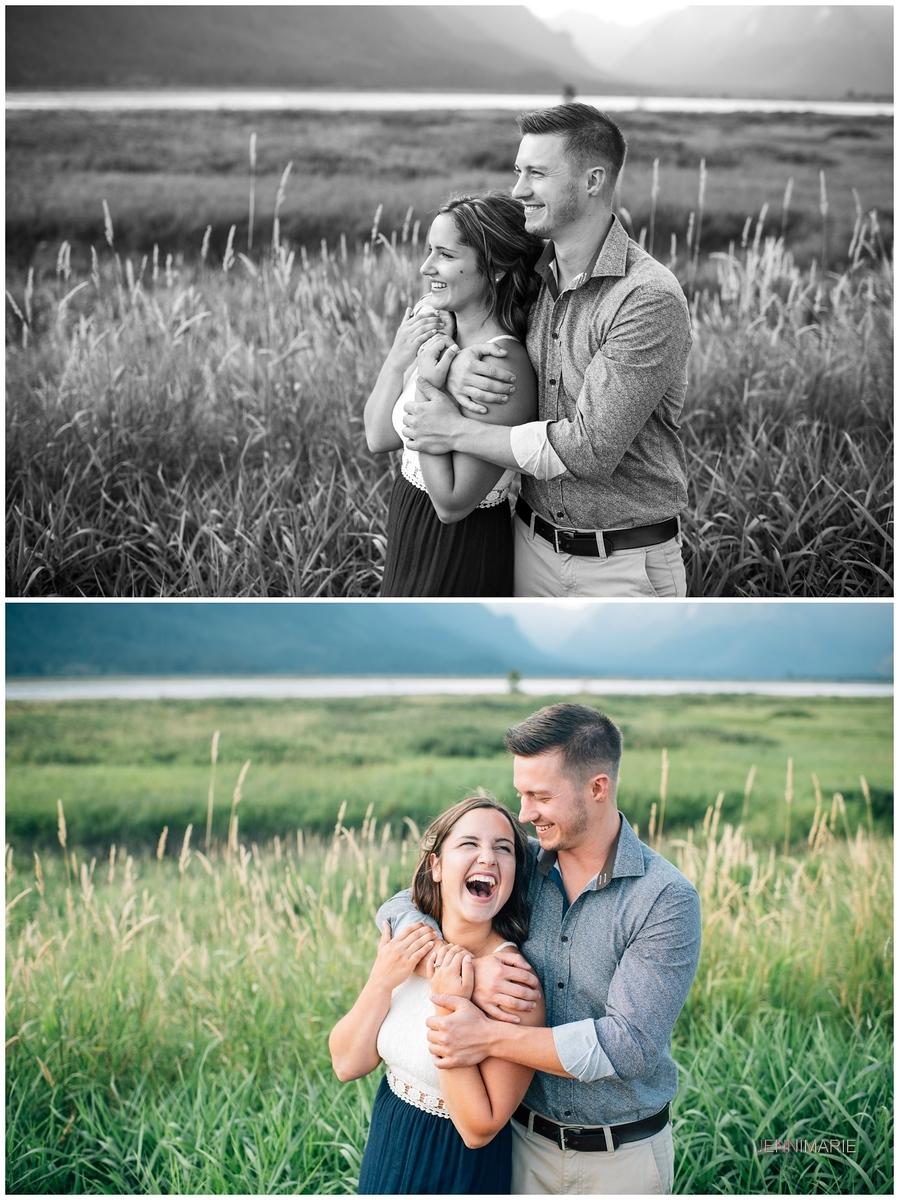 Pitt Lake engagement photos