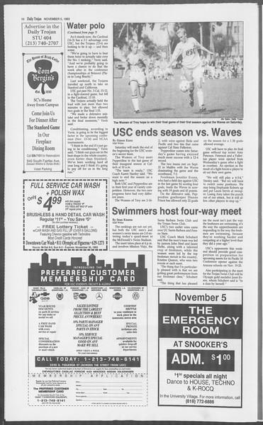Daily Trojan, Vol. 121, No. 47, November 05, 1993
