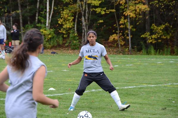 MCLA freshman soccer player Natalie Caney-101013