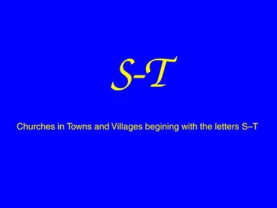 S–T Churches
