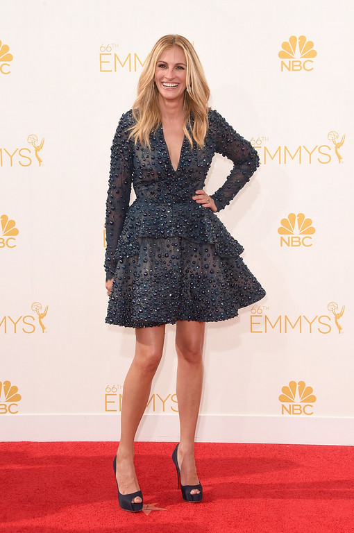 . Actress Julia Roberts attends the 66th Annual Primetime Emmy Awards held at Nokia Theatre L.A. Live on August 25, 2014 in Los Angeles, California.  (Photo by Jason Merritt/Getty Images)