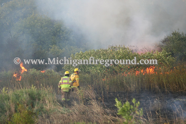 9/11/13 - Mason grass fire & wires down, Barnes Rd & US-127